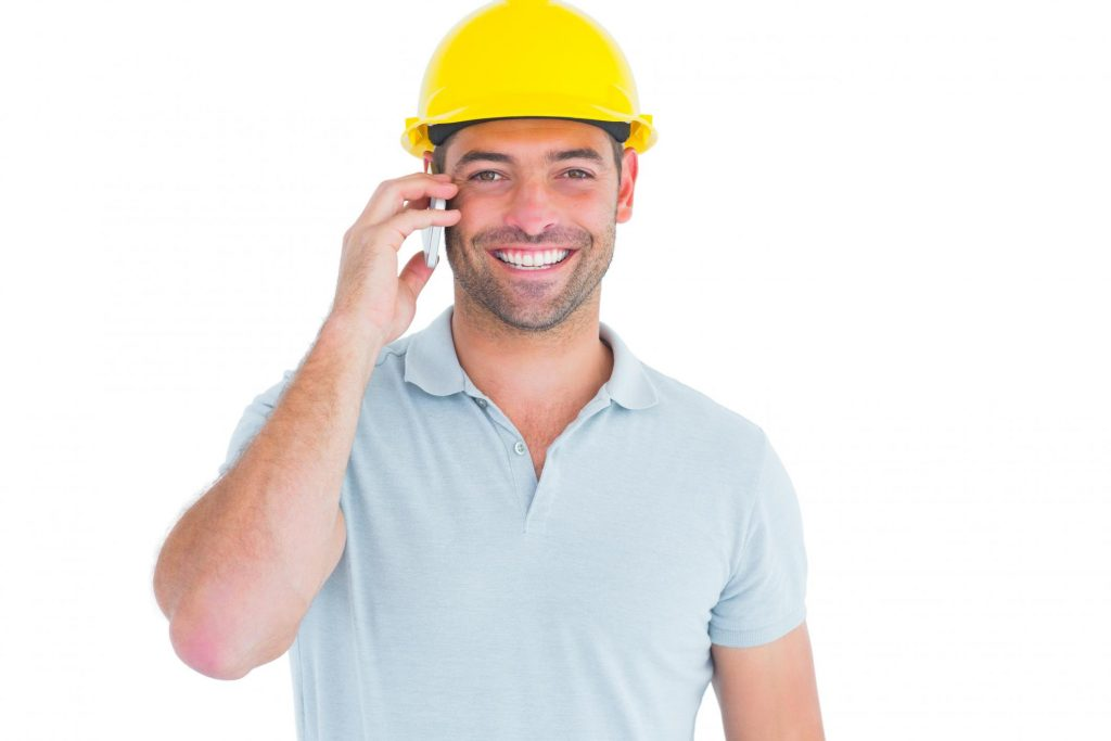 remodeling expert smiling taking phone call